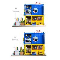 Children Adult DIY Doll Houses Model Creative Container Dollhouse Model Wooden Toy Miniature Building Kits for Brithday Gift
