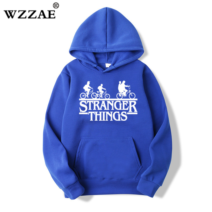 2019 Trendy Faces Stranger Things Hooded Mens Hoodies and Sweatshirts Oversized for Autumn with Hip Hop Winter Hoodies Men Brand 5