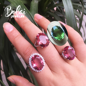 Image 2 - Bolaijewelry,Zultanite rings 925 sterling sliver created Color Change gemstone oval 13*18mm 12.1ct elegant design birthday gift