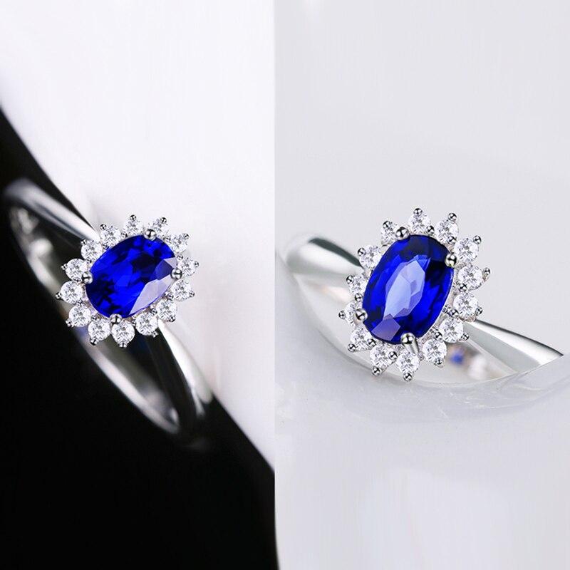 Genuíno 0.5ct aaa anel de safira natural 0.16ctw verdadeiro diamante 14kt ouro branco design simples para a menina aniversário jóias por atacado - 4