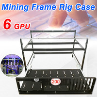 6 GPU Open Air Mining Rig Frame Miner Case Drawer Style Crypto Coin For 4 Fans