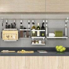 Acero inoxidable de DIY cocina estante de cocina estante DIY olla cuchara  cuchillo condimento plato estante 08defd8f02d7