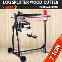 2200W Wood Splitter High Power Electric Hydraulic Wood Log Cutter Chopping Machine With Bracket Work Stand for Garden Tool Parts