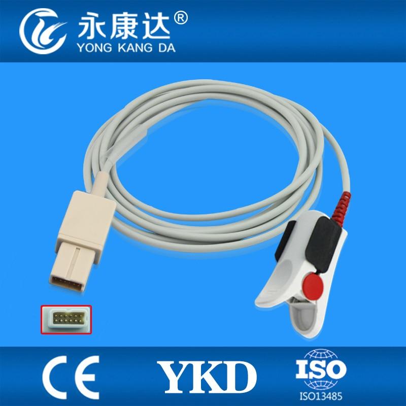 Lohmeier Compatible Adult Finger Clip Spo2 Sensor,6051-0000-035,rectangle 12pinsLohmeier Compatible Adult Finger Clip Spo2 Sensor,6051-0000-035,rectangle 12pins