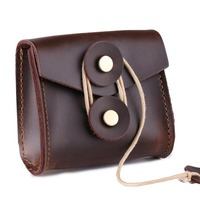 Mini Cow Leather Pouch Digital Electronic Accessories Travel   Storage   Bag For U Disk SD Card USB Data Cable Power Bank