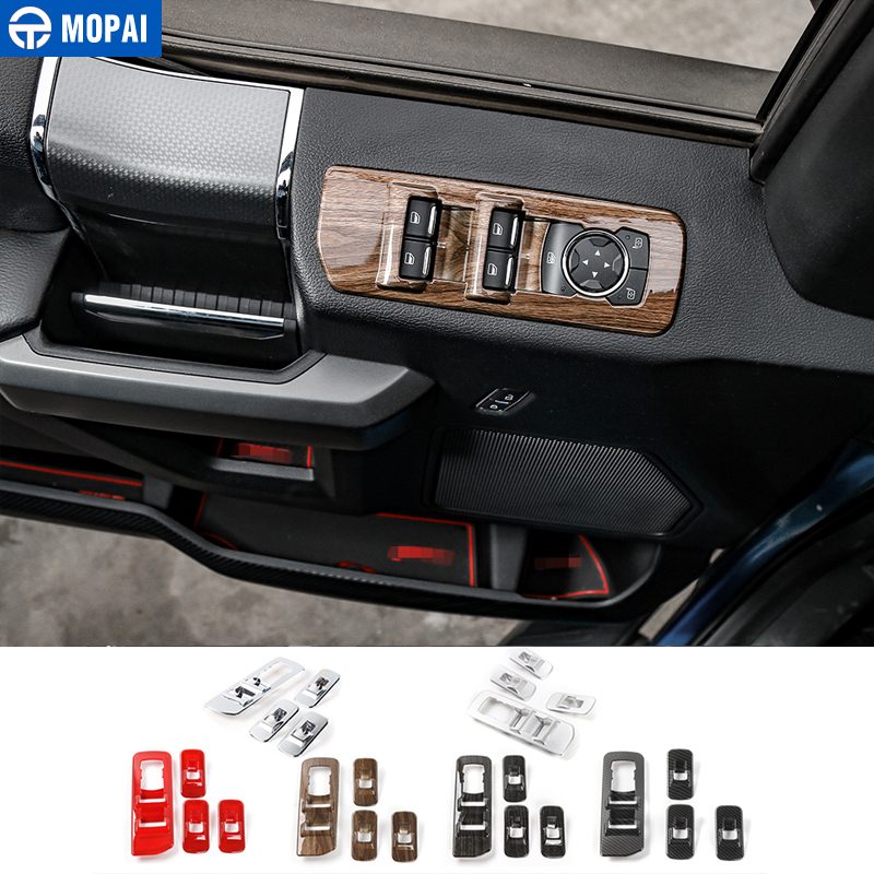 MOPAI ABS Car Interior Window Lift Panel Button Decoration Cover Frame Stickers For Ford F150 2015