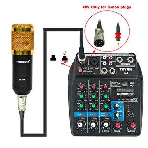 Image 4 - FREEBOSS BM 800 מקצועי הקבל מיקרופון עם 3.5mm שקע מתכת הלם הר Wired מיקרופון להקלטה מקהלה