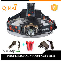 LED Headlight 2000 Lumens Cree XM L T6 Head Lamp High Power LED Headlamp 2pcs 18650