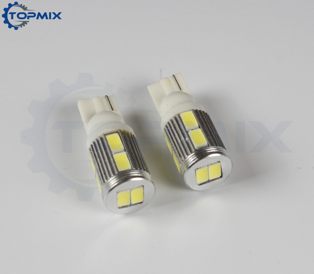 2Pcs High Quality Hot sale T10 10SMD 5630 10LEDs SMD 10 LED Auto Car Parking Light Rear Lamp Bulb White DC12V Source