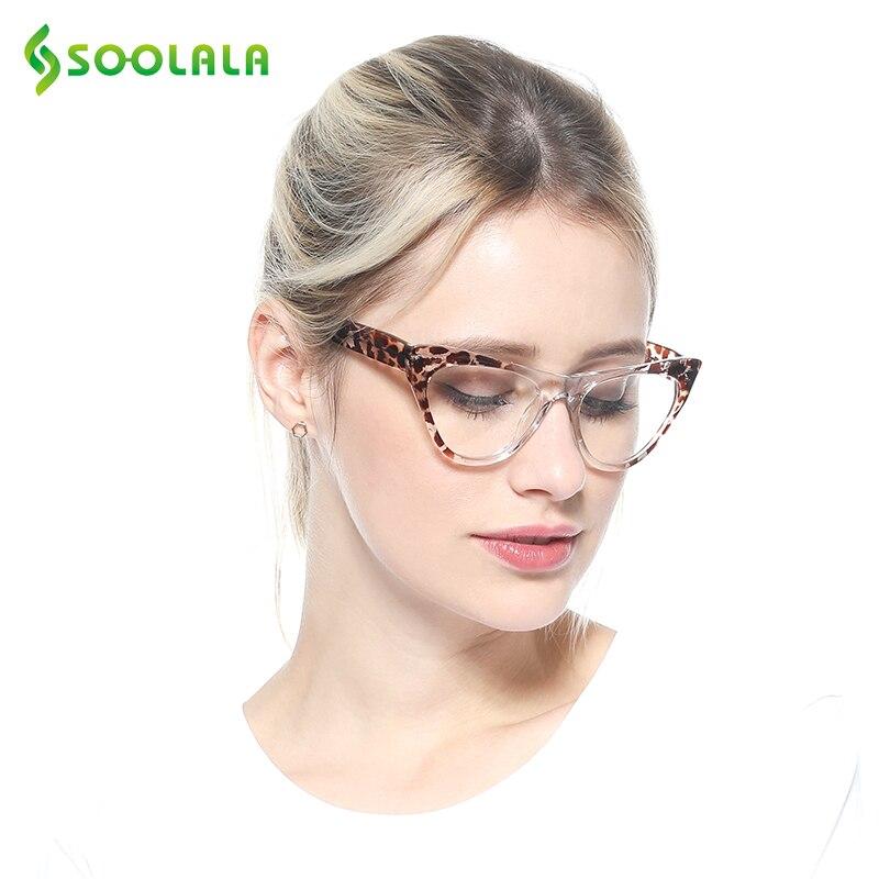 SOOLALA Cat Eye Reading Glasses Women Fashion New Leopard Pattern Cateye Presbyopia Eyeglasses Glasses Reading +0.5 To 4.0