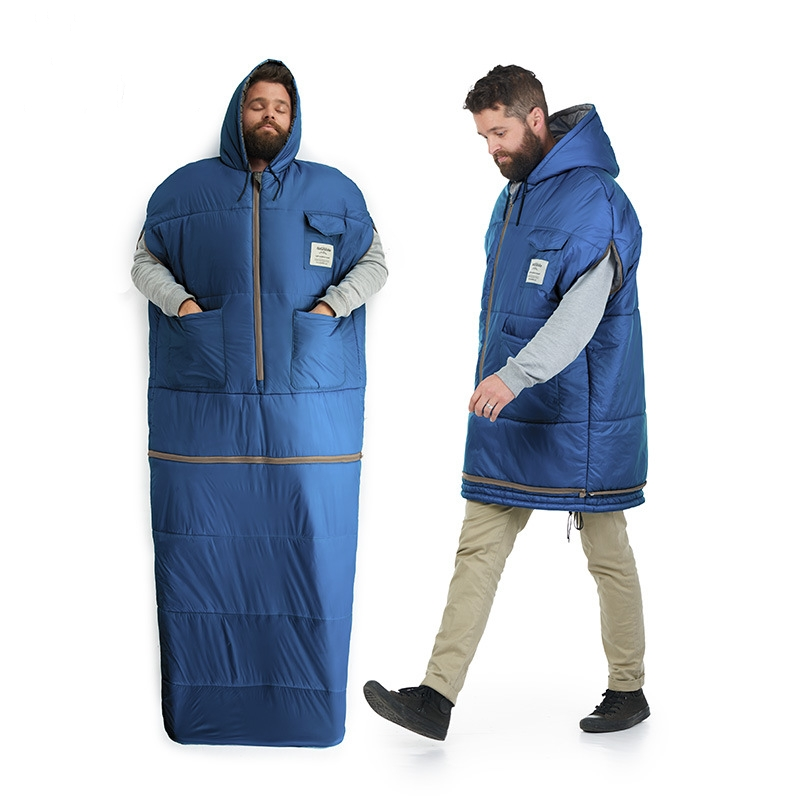 Wnnideo Adult Cotton Sleeping Bag Outdoor Lightweight Personal Sleeping Jacket for Hiking,Fishing,Camping 2018 wnnideo adult mummy 4 season sleeping bag warm length adjustable outdoor camping hiking travel zs7 1901