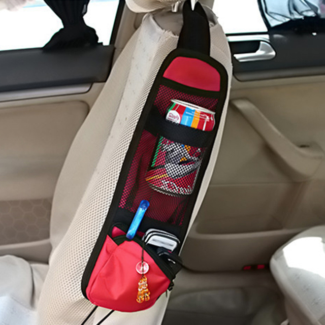 Car Seat Storage Bag Car Organizer For Stowing Tidying Auto Seat Side Bag Hanging Pocket Bags Nylon Sundries Holder car-styling