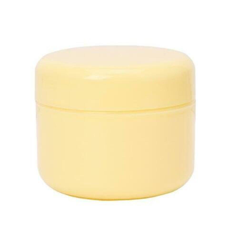 1 шт. бутылки многоразового использования Пластик пустой Макияж Jar горшок крем для лица/лосьон/контейнер для косметики 5 цветов 10/20/30/50/100/150g - Цвет: yellow