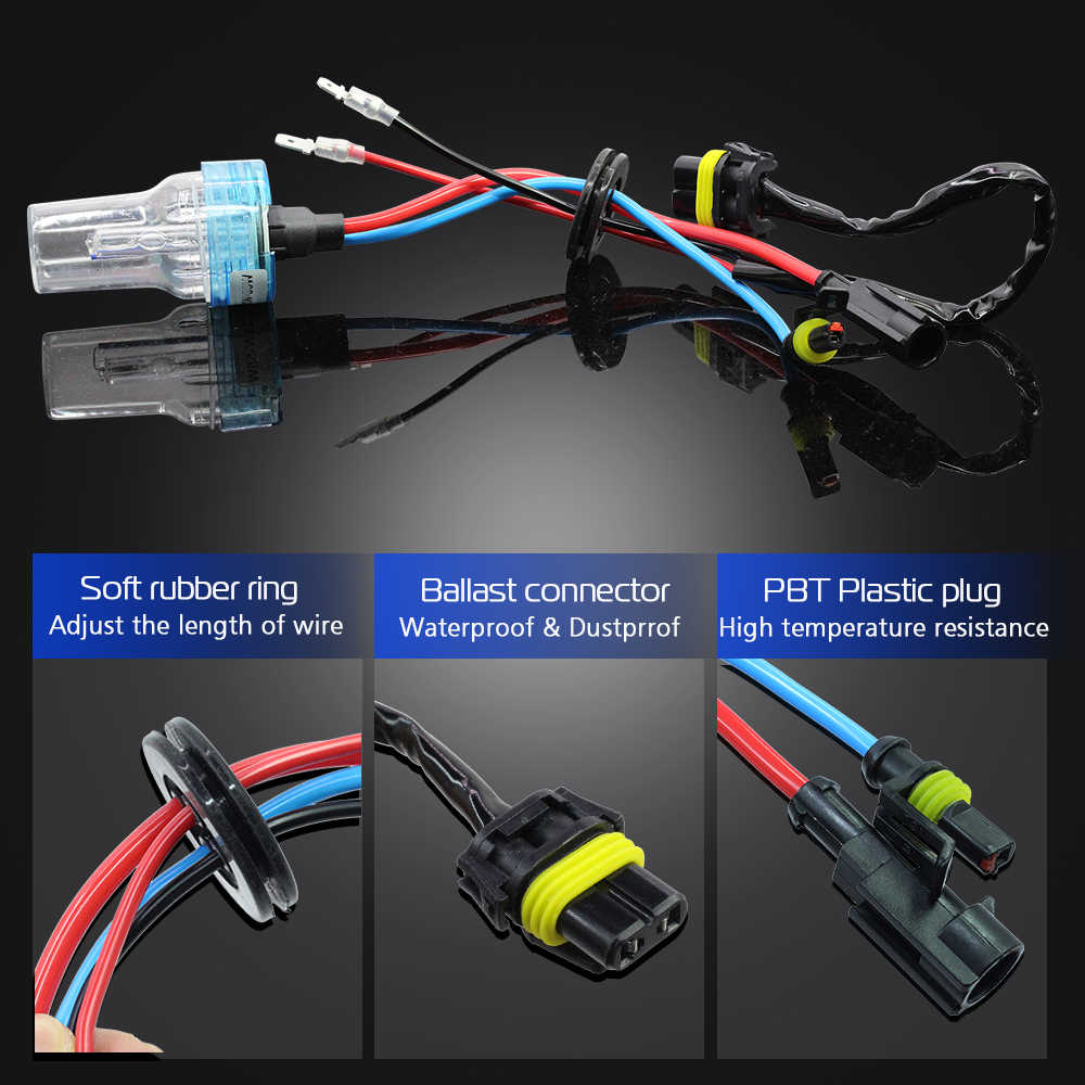 hight resolution of  cawanerl 55w car light canbus hid xenon kit ac ballast bulb headlight low beam for