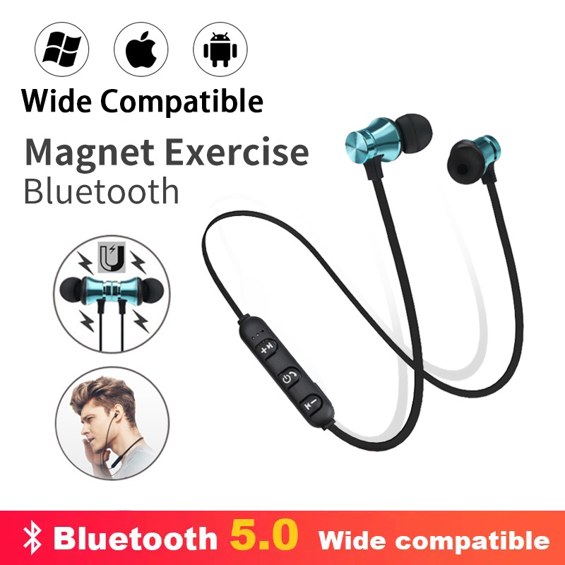 Original Magnetic Bluetooth Earphone Stereo Waterproof Earbuds Wireless Headphones Air in Ear Headset with Mic For iPhone Xiaomi(China)