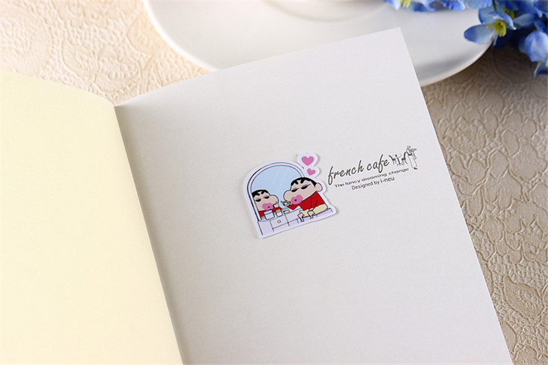 Купить с кэшбэком 40 pcs Crayon Shinchan  Sticker for Luggage Skateboard Phone Laptop Moto Bicycle Wall Guitar/Eason Stickers/DIY Scrapbooking