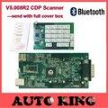 Con Bluetooth v5.008R2 WO keygen cdp TCS CDP pro herramienta de exploración obd2 PARA los coches y camiones OBD2 OBDII herramienta de diagnóstico auto Libera la nave