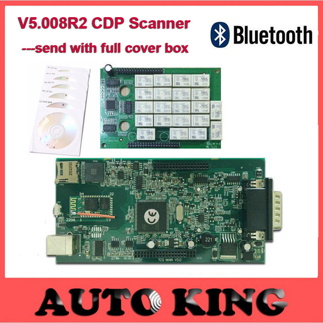 with Bluetooth v5.008R2 keygen WO cdp TCS CDP pro obd2 scan FOR cars and trucks OBD2 OBDII auto diagnostic tool Free ship