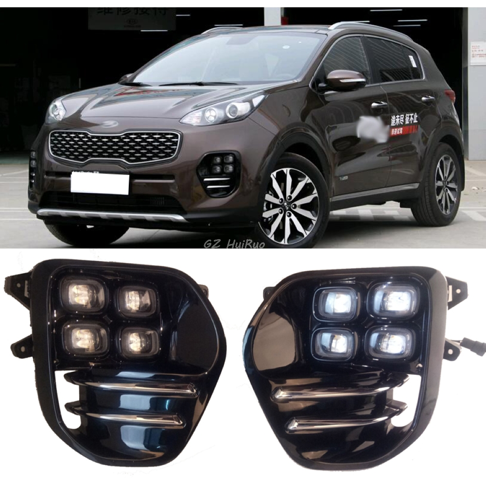 High quality DRL LED 12V ABS Waterproof Daytime Running Light DRL Day Lights Fog Lamp For KIA All New Sportage 2016+ 1s 2s 3s 4s 5s 6s 7s 8s lipo battery balance connector for rc model battery esc