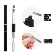 ZWTale Poly Gel Nail Tools Double-useed UV PolyGel Brushes Dual-ended Slice Shape Tool For Tips