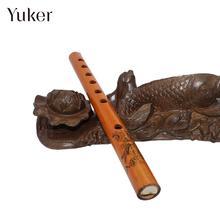Коричневые 24 см Бамбуковые флейты для начинающих Музыкальные инструменты Dizi кларнет Экономичные профессиональные музыкальные инструменты