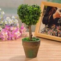 Yeni tasarım yapay bitkiler Masaüstü Bilgisayar masaları Dekorasyon bonsai bitkiler saksı ağaçları aşk tipi düğün arka plan