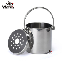 1.2L/2L/ 3L Premium Stainless Steel Ice Bucket with Strainer & Tong