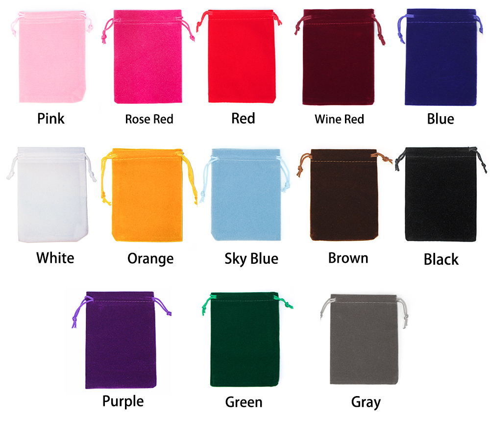 2018 New 25Pcs 15x20cm 17x23cm 20x30cm Velvet Drawstring Pouch Jewelry Packing Wedding Party Gift Bag