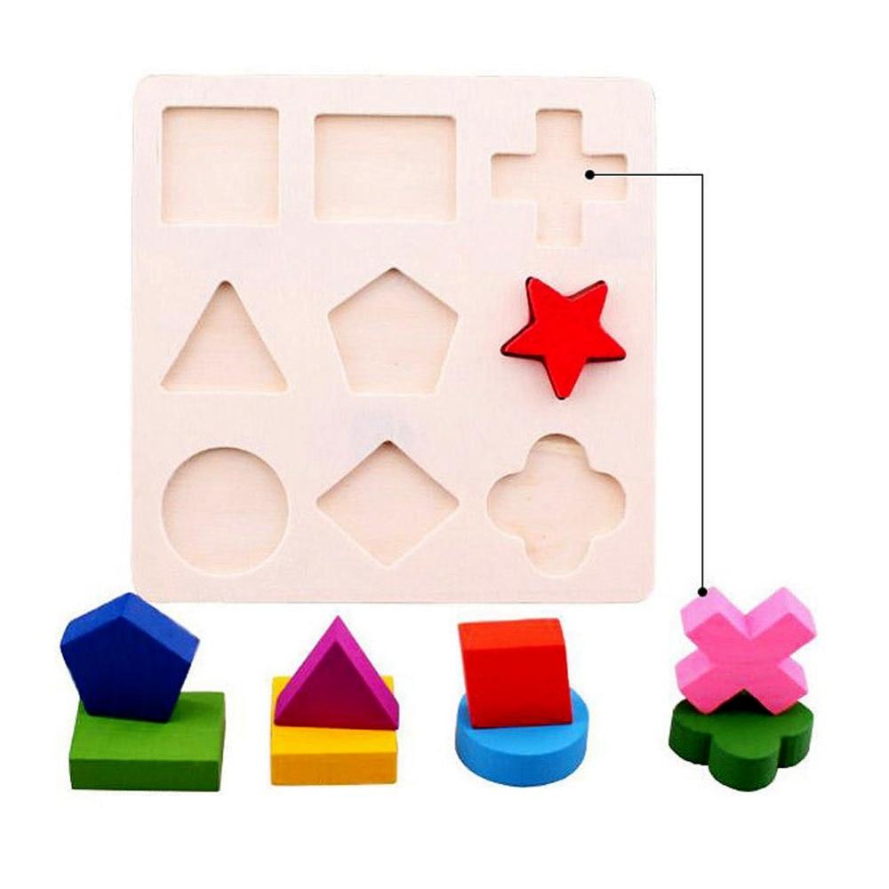 BS # S Copii Baby De învățare de lemn Geometrie Educaționale - Jocuri și puzzle-uri - Fotografie 4