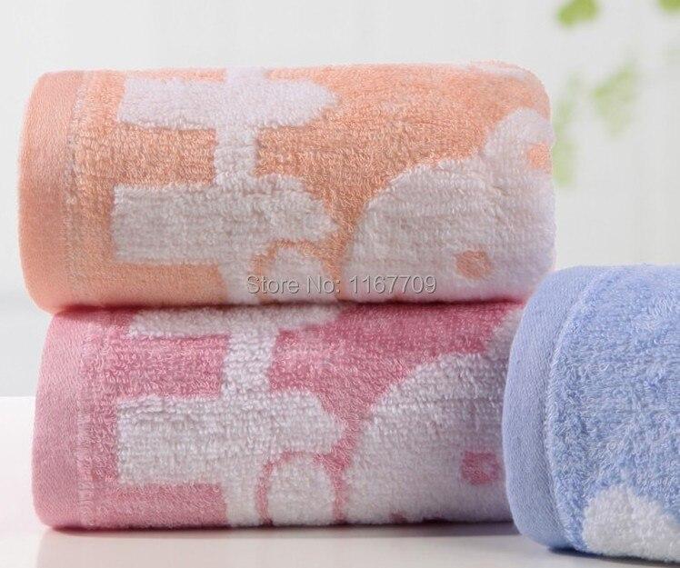 3pcs Lot New Brand 26x50cm Bamboo Fiber Face Towels Super Soft Small Children Hand Towel