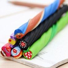 4 BOX Cute Long Color Fruit Rubber Kawaii Pencil Eraser Cartoon Cut into Pieces Correction School Supplies Stationery