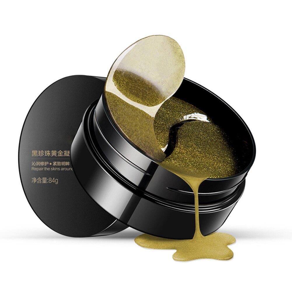 Augenmaske Hautpflege 60 STÜCKE Black Pearl Gel Maske Kollagen-kristallaugen Maske Patch Dunkle Kreis Augenlid Anti-falten Feuchtigkeit