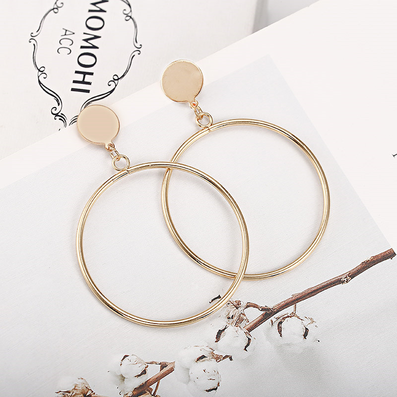 Simple Style Fashion Silver Gold Color Earrings for Women Square Round Geometric Hanging Earrings 18 Female Pendientes Jewelry 22