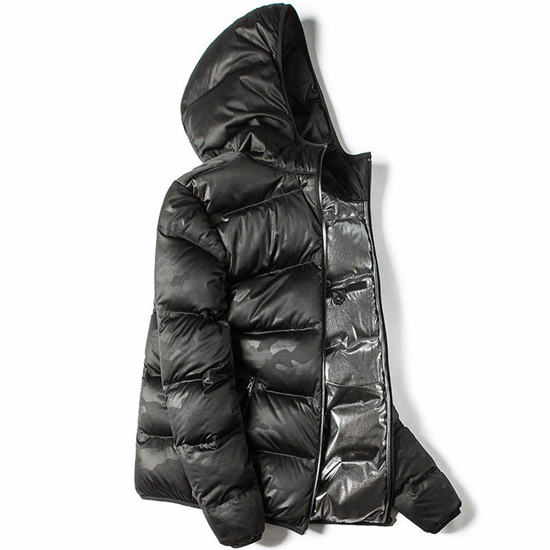 Image 3 - Markless Winter Seamless Down Jacket Brand Clothing Thick 90% White Duck Down Windproof Warm Coat Hooded Parka for Men and Women-in Down Jackets from Men's Clothing