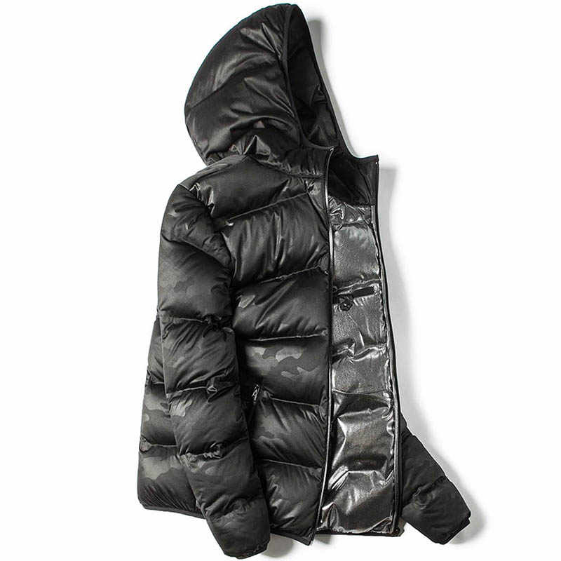 5b38262d9 Markless Winter Seamless Down Jacket Brand Clothing Thick 90% White Duck  Down Windproof Warm Coat Hooded Parka for Men and Women
