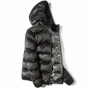 Image 1 - Markless zima bez szwu dół kurtki marki odzież gruba 90% biały puch kaczy wiatroszczelna ciepły płaszcz kurtka z kapturem dla mężczyzn i kobiet