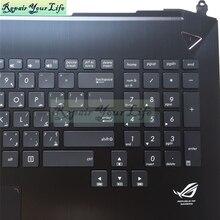 Ремонт вашей жизни Клавиатура для ноутбука Asus G750 G750J G750JS G750JM AR раскладка клавиатуры Palmrest сенсорная панель с подсветкой и