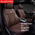 6 Colors Tailor-made Car Seat Cover for Honda CITY (2008-2016) Composite pu Car Styling car accessories Protector