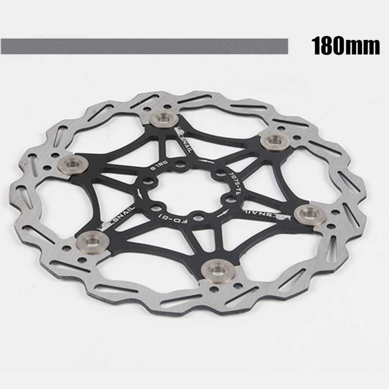 Pièces de frein à disque en acier, frein à disque flottant pour bicyclette à refroidissement rapide, 180MM en acier inoxydable, accessoires de bicyclette