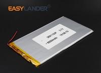 3 6X91X155MM 3 7V 6000mAh Rechargeable Li Polymer Li Ion Battery For Power Bank Tablet PC