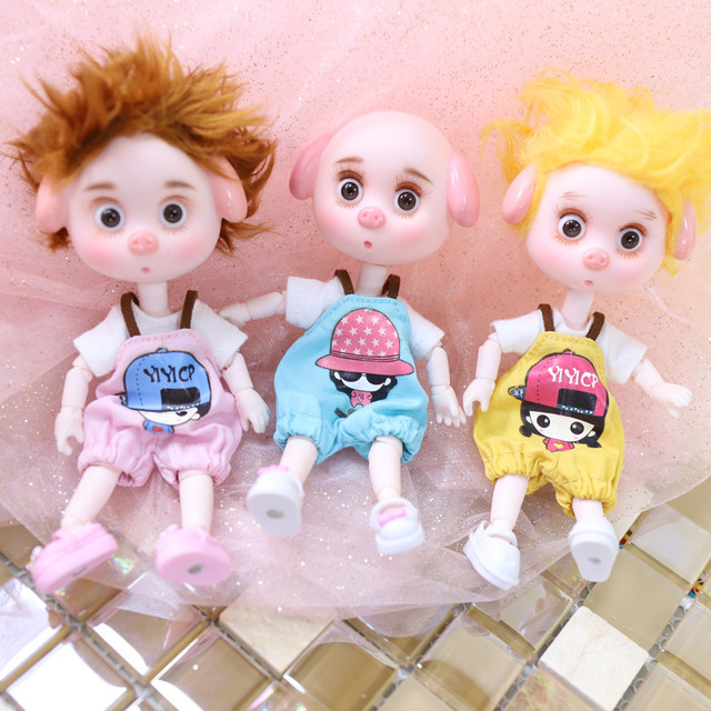 Dream Fairy 1/12 BJD DODO Pigiesตุ๊กตา15ซม.ตุ๊กตา26 Joint Bodyเด็กของขวัญของเล่นAngel Surprise ob11
