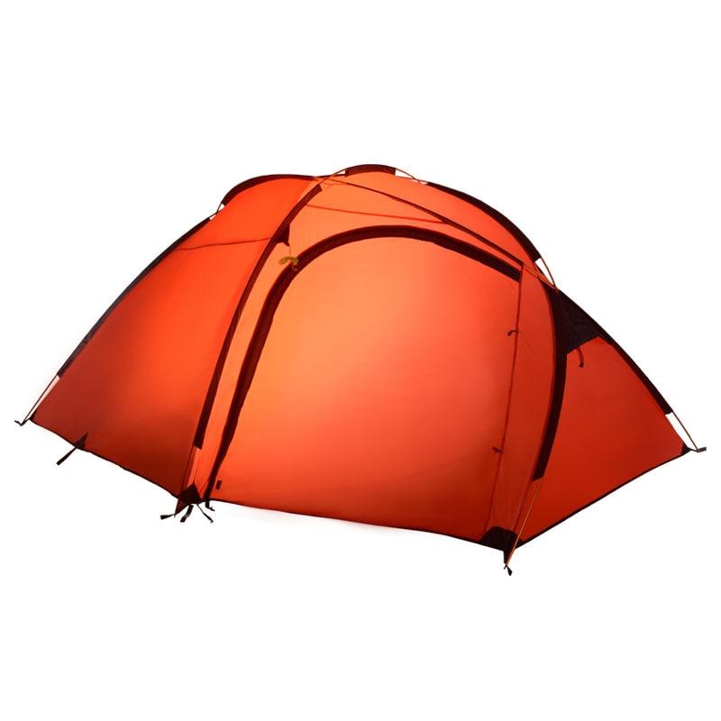 Hillman Qingyun 3-4 menschen ein großer außen aluminium pole double schicht camping zelt 4 jahreszeiten hohe qualität wasserdicht winddicht