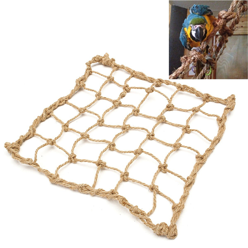 Durable Parrot Bird Cage Toy Game Hanging Rope Climbing Net Swing Ladder Parakeet Budgie Macaw Play Gym Toys Pet Supplies