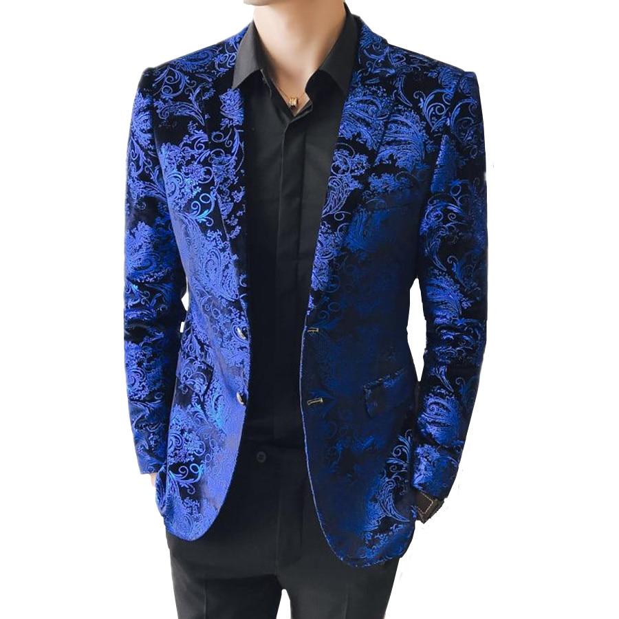Синий мужской костюм куртка Азиатский размер S-5XL Мужской Блейзер Куртка высокого качества мужские спортивные пиджаки 2019