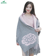 Sweater Cloak Shawl Outerwear Women Medium Long Cardigan Autumn New Korean style leisure cloak Knitwear Bat coat OKXGNZ QQ1139