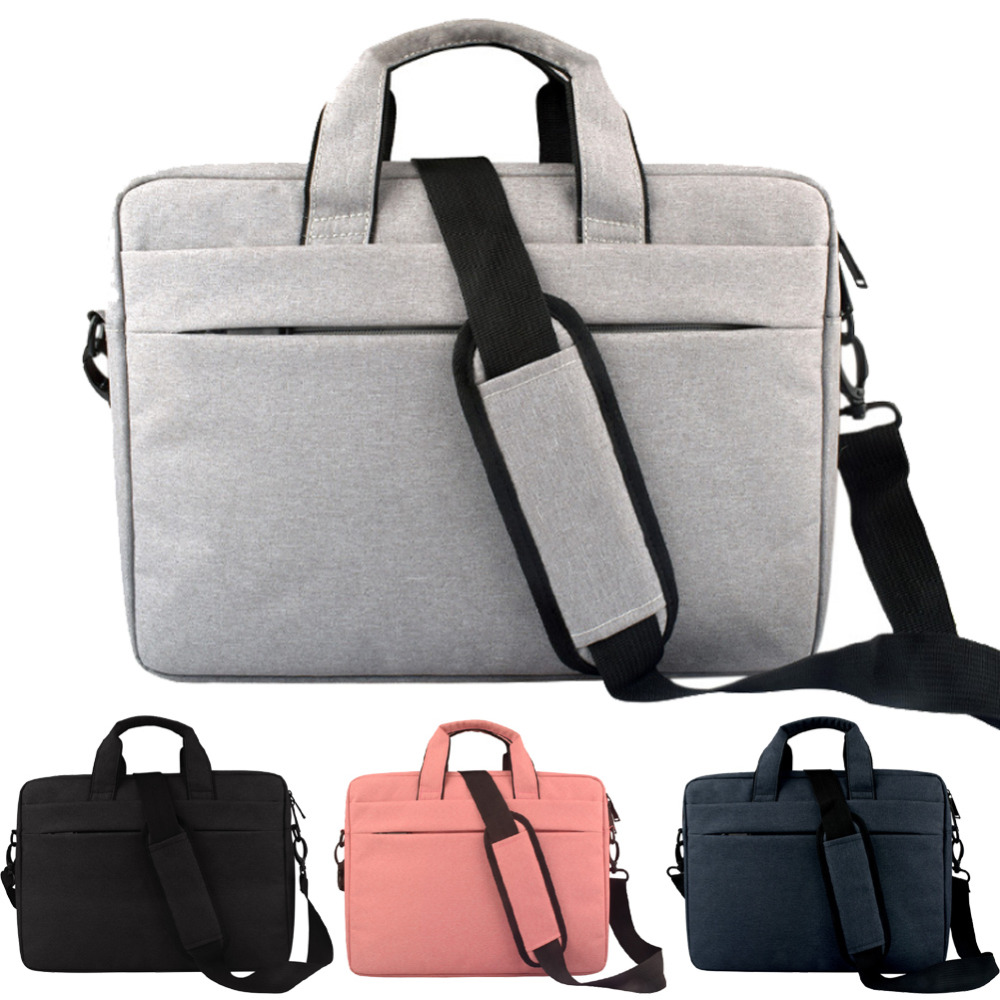 12 13 13.3 14 15 15.6 Inch Waterproof Anti-cut Nylon Laptop Solid Notebook Tablet Bag Bags Case Messenger Shoulder for Men Women