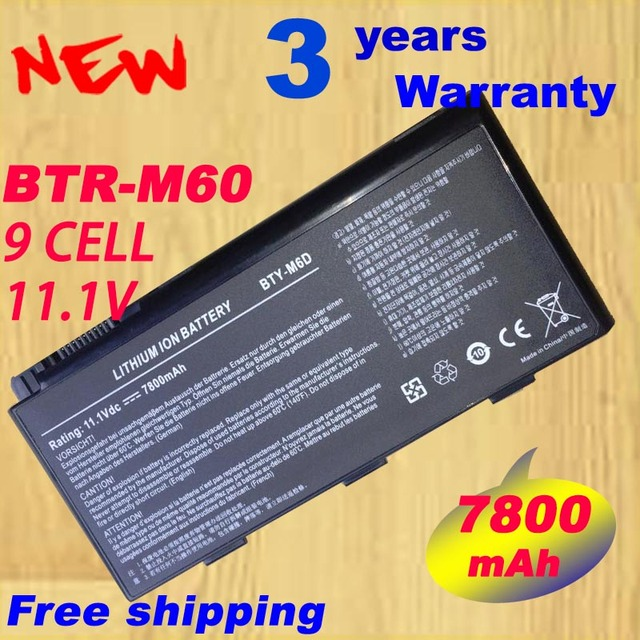 laptop battery BTY M6D E6603 For MSI GT60 GT660 GT660R GT663 GT663R GT670 GT680 GT680DX GT680DXR GT680R