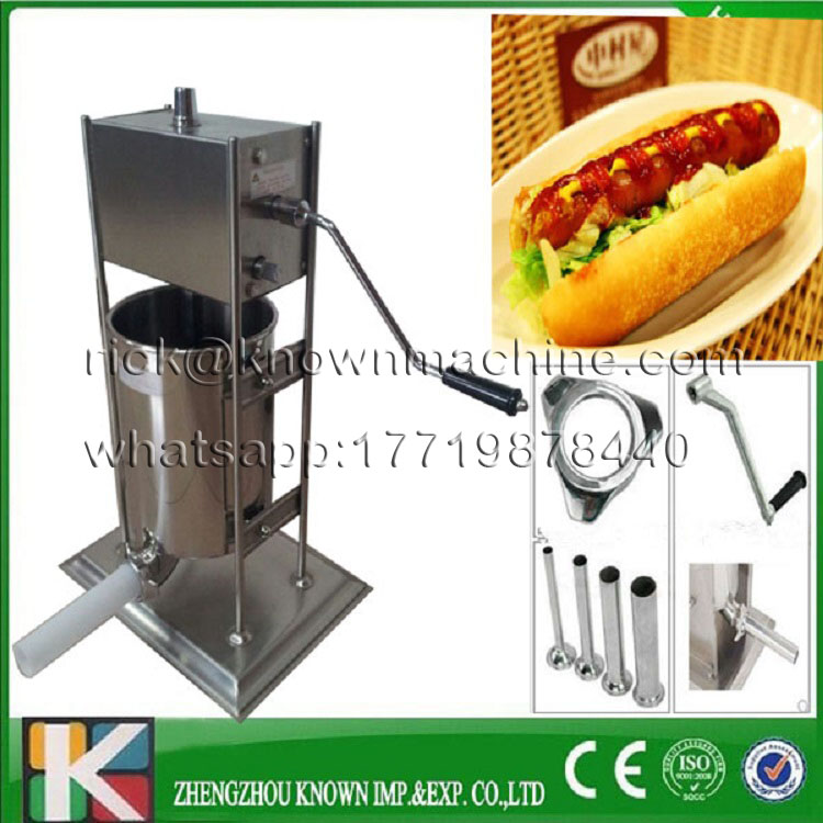 2017 hot sale 3 L 8 kg 58*35*30 cm manual sausage stuffer making/ maker machine with CE certified