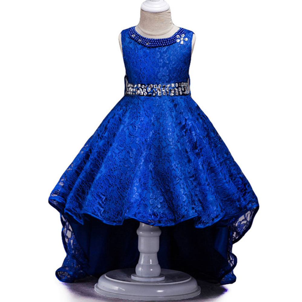 Kids Bridesmaid Wedding Flower Girls Dress For 3 5 6 10 12 Year Party Dresses Kids Lace Princess Evening Dress Children Clothing