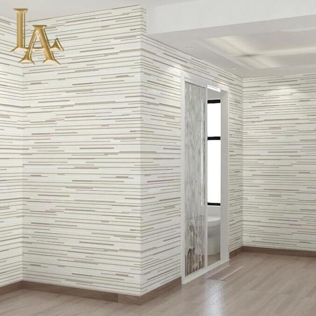 Simple Moderne Gris Horizontal Raye Papier Peint 3d Salon Papier